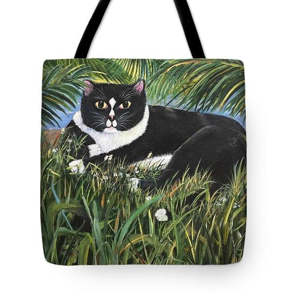 Jungle Kitty Tote Bag