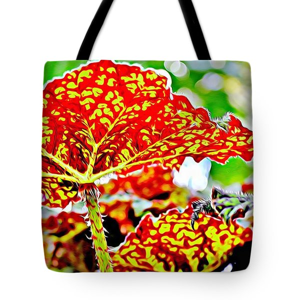 Tote Bag featuring the photograph Jungle Leaf by Mindy Newman