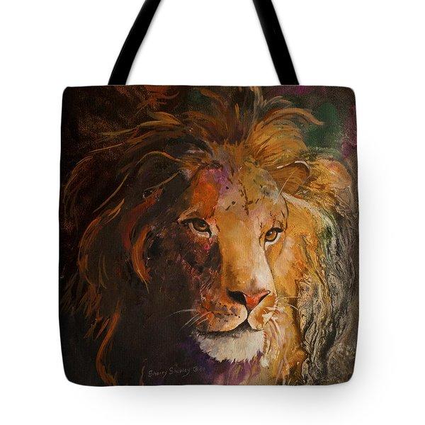 Jungle Lion Tote Bag by Sherry Shipley