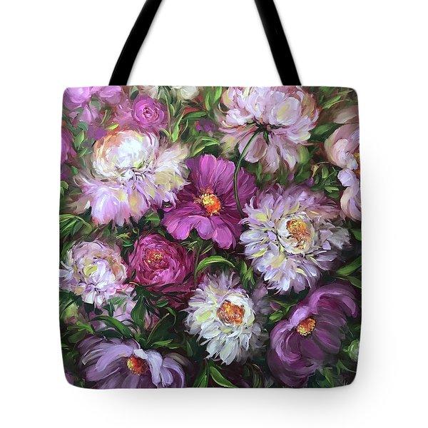 Jungle Love Peony Garden Tote Bag