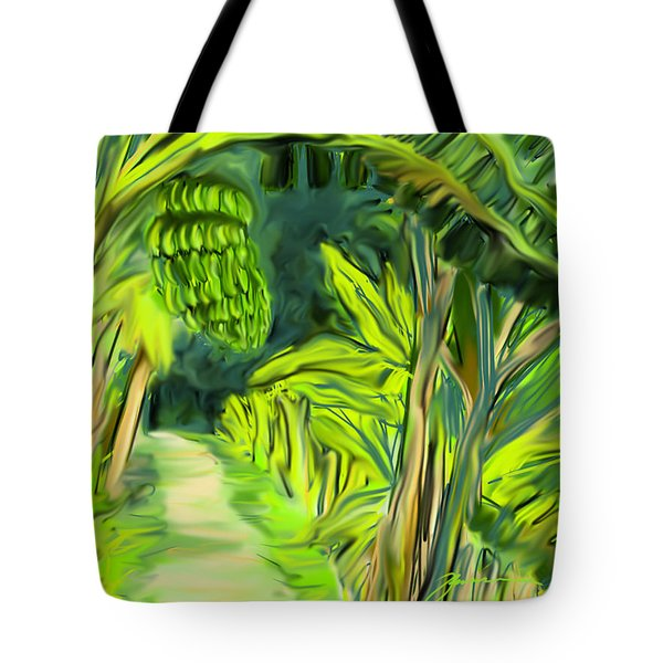 Jungle Path Tote Bag by Jean Pacheco Ravinski