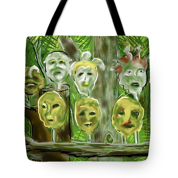 Jungle Spirits Tote Bag by Jean Pacheco Ravinski