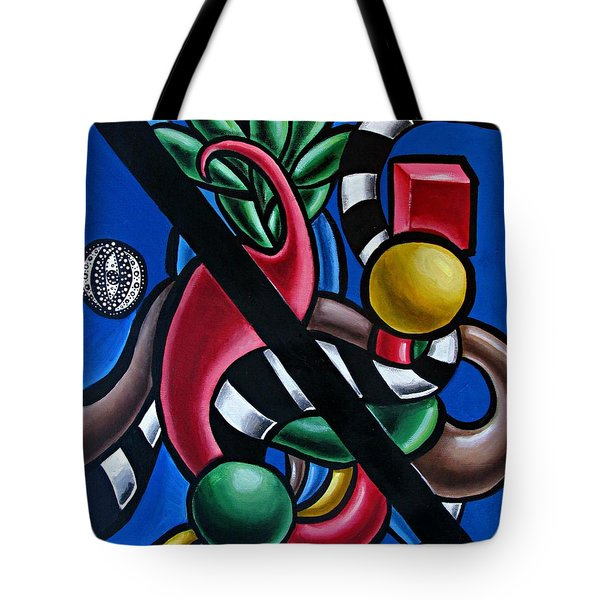 Original Colorful Abstract Art Painting - Multicolored Chromatic Artwork Tote Bag