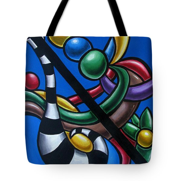 Original Colorful Abstract Art Painting - Multicolored Chromatic Artwork Painting Tote Bag
