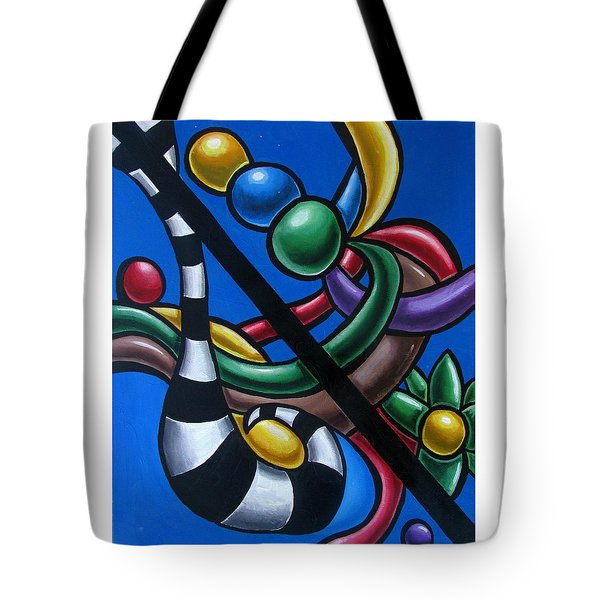 Jungle Stripes 3 - Original Abstract Art Painting - Modern Chromatic Art Tote Bag
