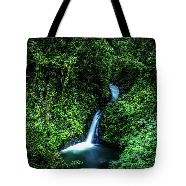 Jungle Waterfall Tote Bag