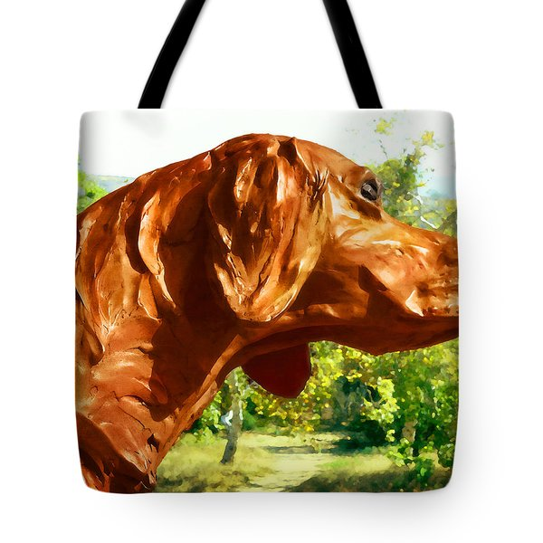 Junior's Hunting Dog Tote Bag by Timothy Bulone