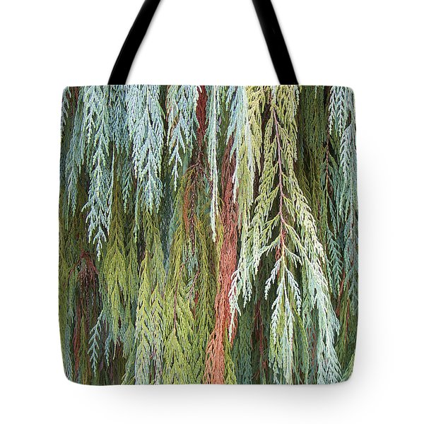 Tote Bag featuring the photograph Juniper Leaves - Shades Of Green by Ben and Raisa Gertsberg
