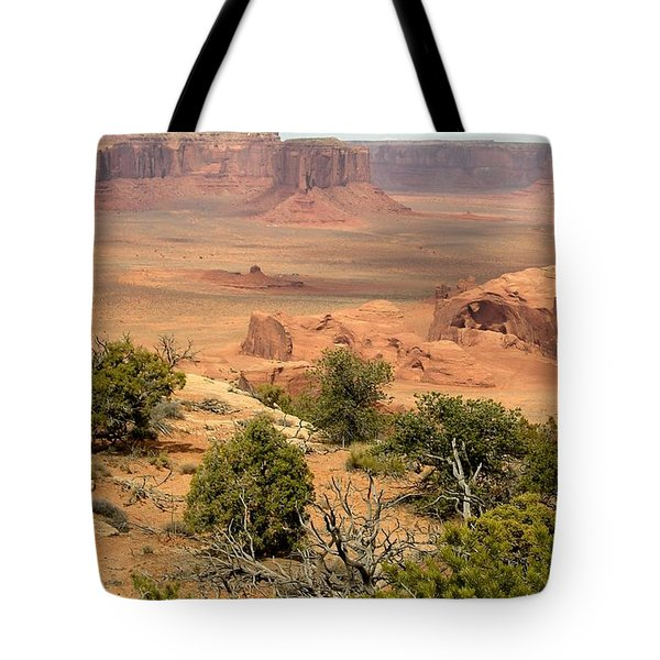 Juniper On The Mesa Tote Bag by Fred Wilson