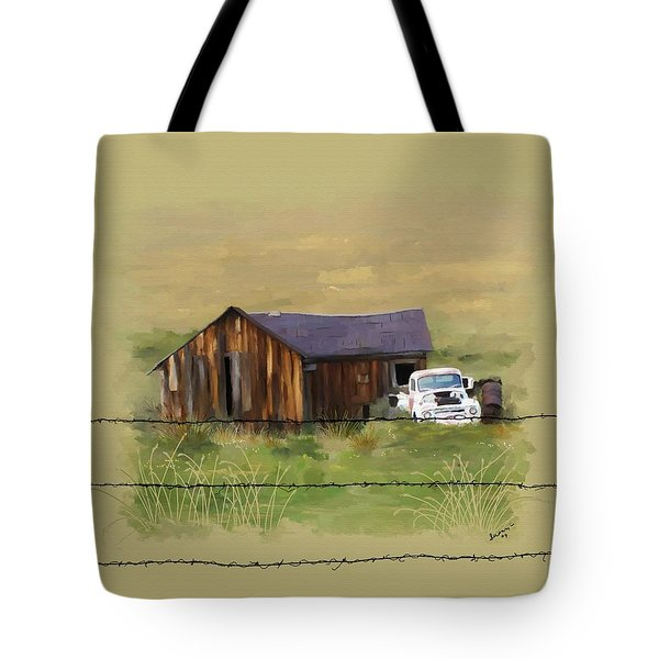 Tote Bag featuring the painting Junk Truck by Susan Kinney
