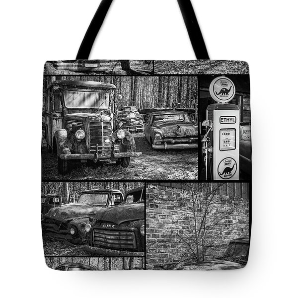 Junk Yard Cars Tote Bag