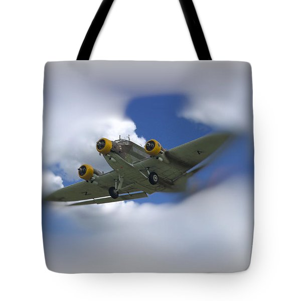 Tote Bag featuring the photograph Junker Ju 52/3 Tri-motor by JRP Photography