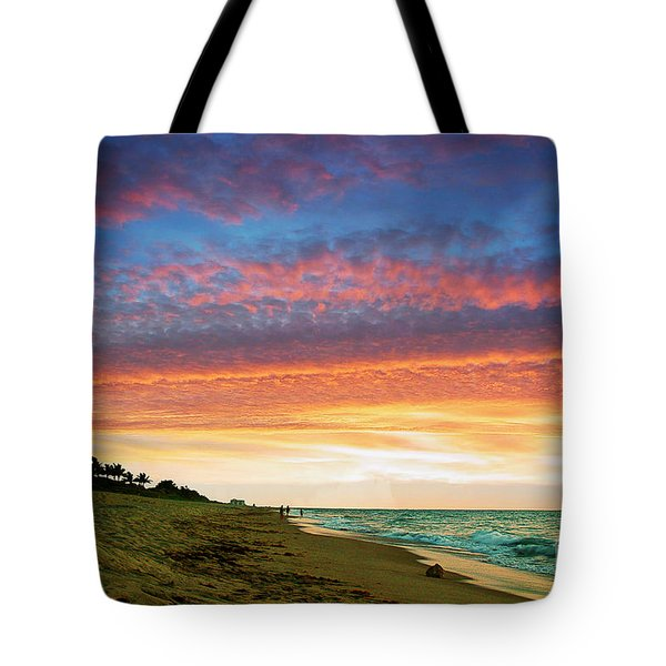 Juno Beach Florida Sunrise Seascape D7 Tote Bag by Ricardos Creations