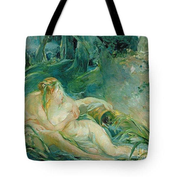 Jupiter And Callisto Tote Bag by Berthe Morisot