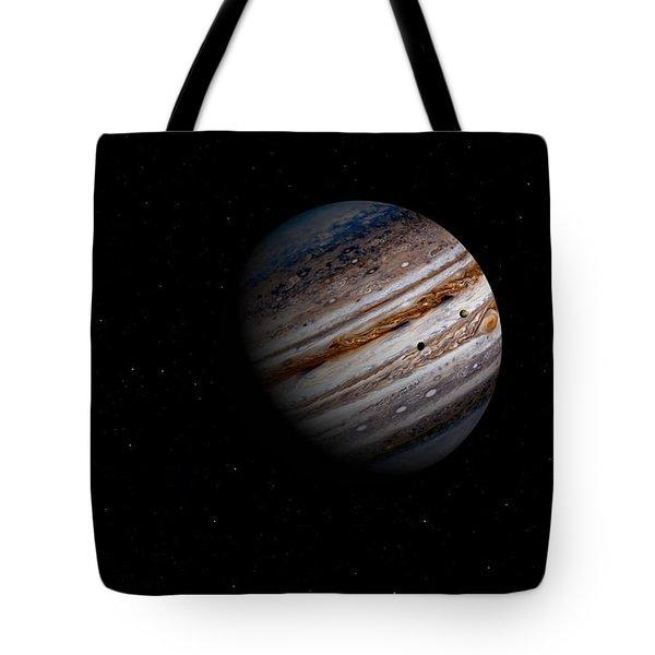 Jupiter And It 4 Major Moons Tote Bag