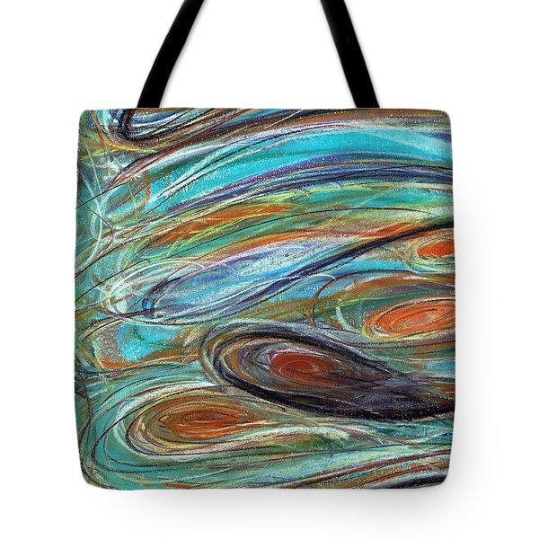 Jupiter Explored - An Abstract Interpretation Of The Giant Planet Tote Bag
