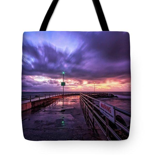 Jupiter Inlet Jetty Tote Bag