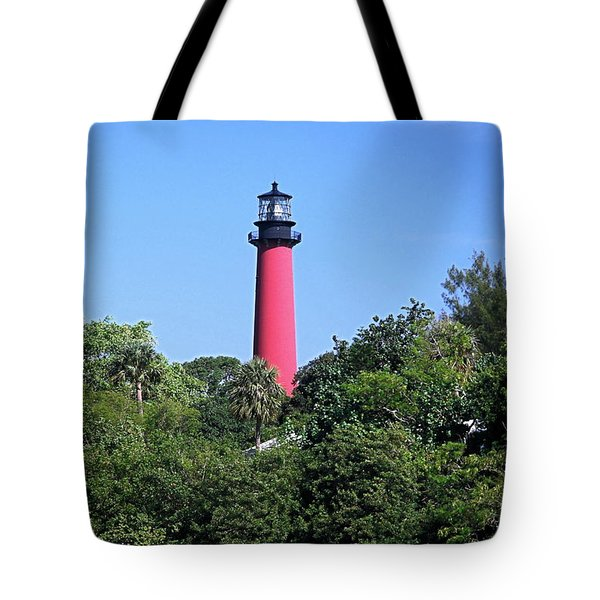 Jupiter Lighthouse Tote Bag by Sally Weigand