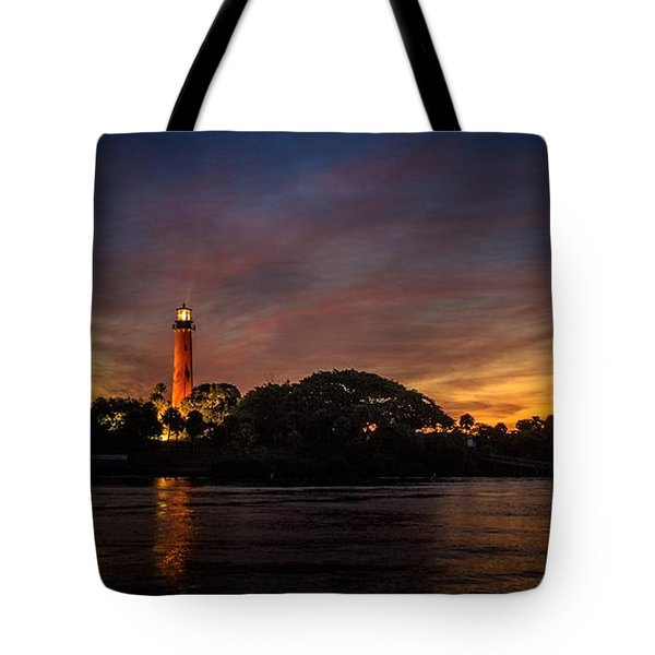 Jupiter Lighthouse Sunrise Tote Bag