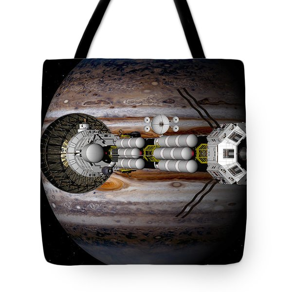 Tote Bag featuring the digital art Jupiter Looming by David Robinson