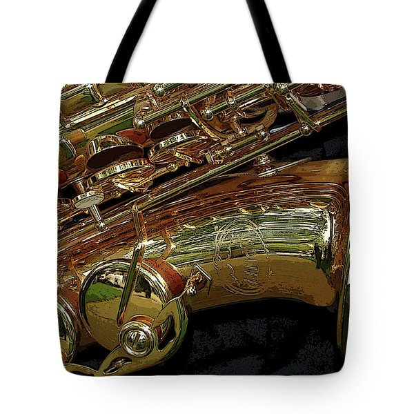Jupiter Saxophone Tote Bag