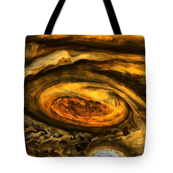 Jupiter's Storms. Tote Bag