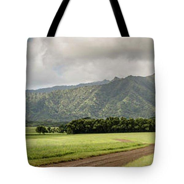 Jurassic Kahili Ranch Panorama Tote Bag