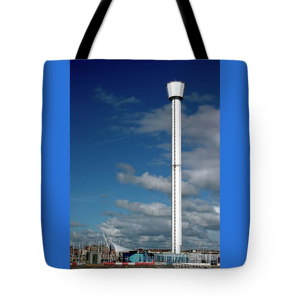 Jurassic Skyline Tower Tote Bag by Baggieoldboy