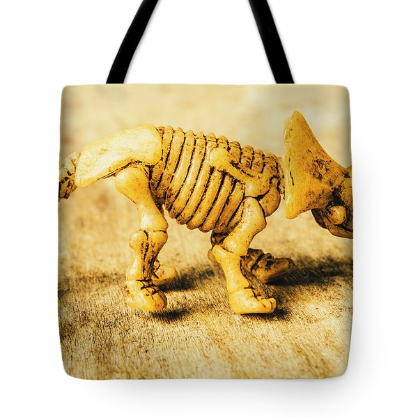 Jurassic Toy Triceratops Tote Bag