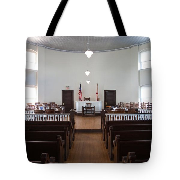 Jury Box In A Courthouse, Old Tote Bag