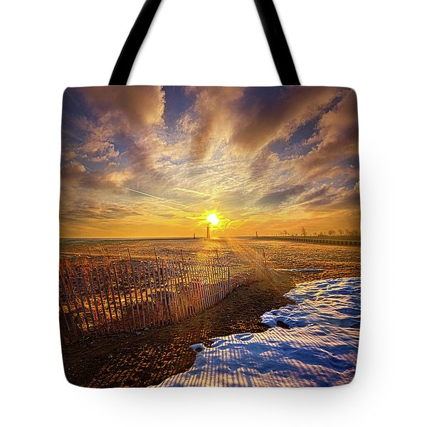 Tote Bag featuring the photograph Just A Bit More To Go by Phil Koch