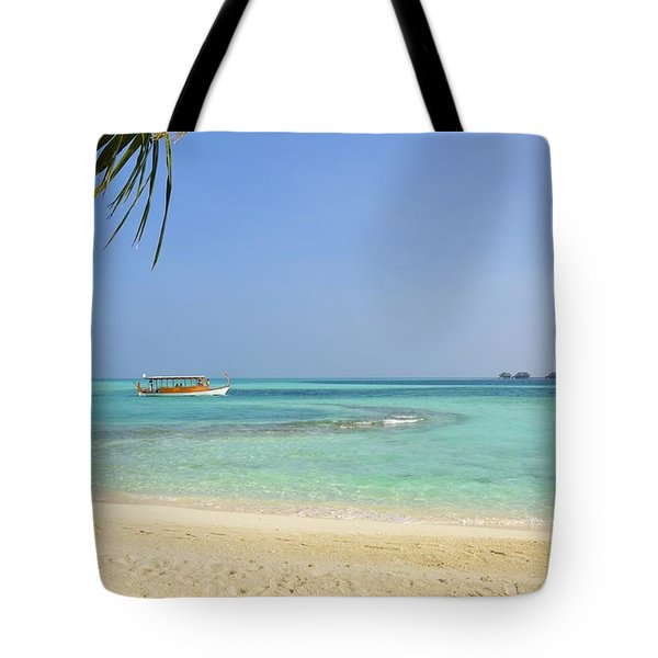 Just A Boat Ride Away Tote Bag