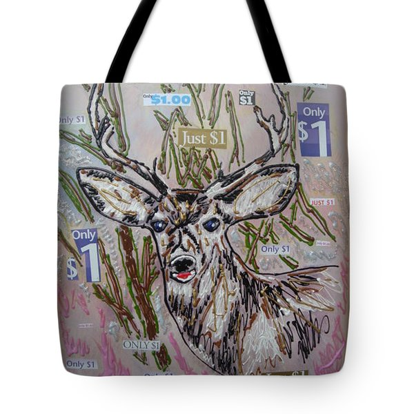 Tote Bag featuring the painting Just A Buck by Lisa Piper