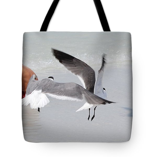 Just A Day At The Beach Jdabp Tote Bag by Jim Brage