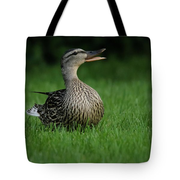 Just A Happy Duck Tote Bag