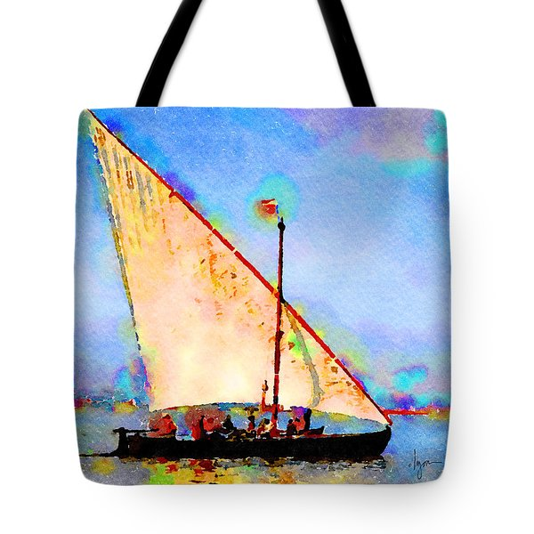 Tote Bag featuring the painting Just A Lazy Afternoon by Angela Treat Lyon