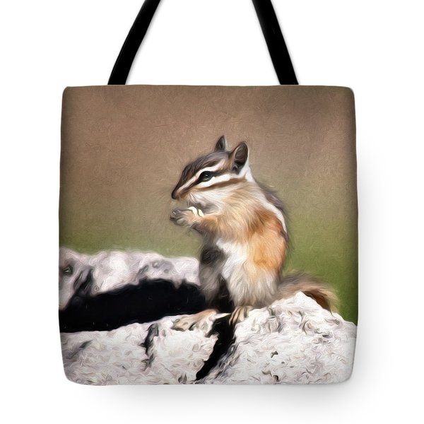 Tote Bag featuring the photograph Just A Little Nibble by Lana Trussell