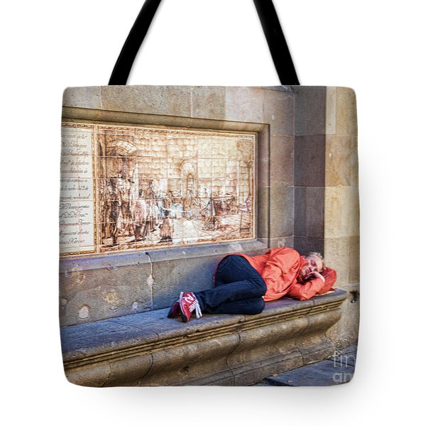 Just A Nap  Barcelona Spain  Tote Bag