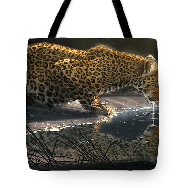 Just A Sip Tote Bag by Aaron Blaise