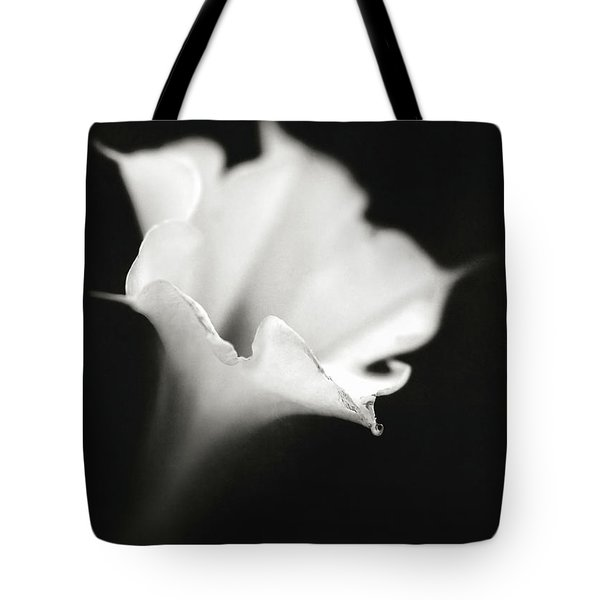 Tote Bag featuring the photograph Just A White Flower by Eduard Moldoveanu