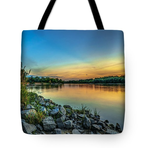 Just After Sun Went Down Tote Bag by Julis Simo