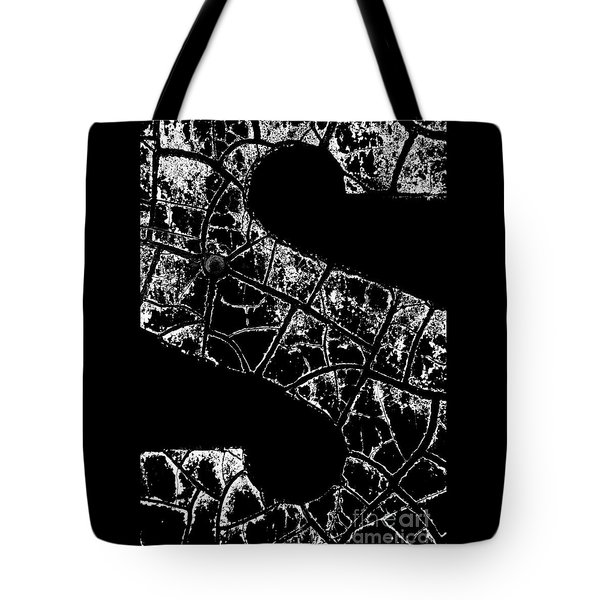 Tote Bag featuring the photograph Just An S by Wendy Wilton