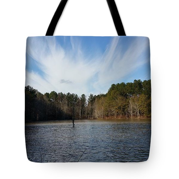 Just Another Day Out Fishing  Tote Bag
