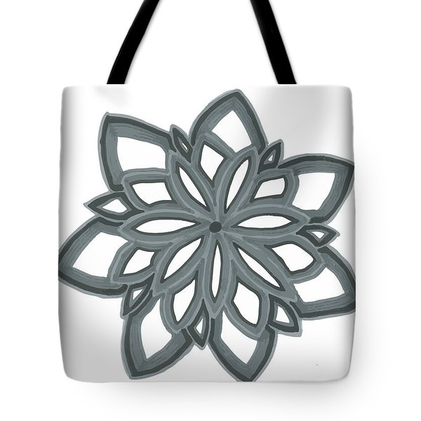 Tote Bag featuring the drawing Just Another Flower by Jill Lenzmeier
