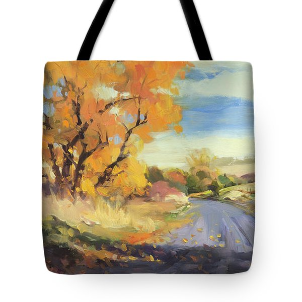 Tote Bag featuring the painting Just Around The Corner by Steve Henderson