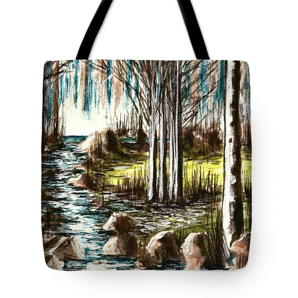 Just Around The Riverbend  Tote Bag