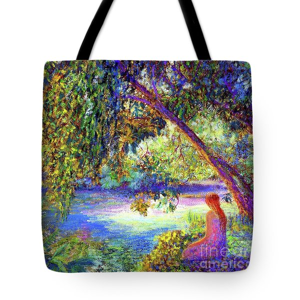 Tote Bag featuring the painting Just Be by Jane Small