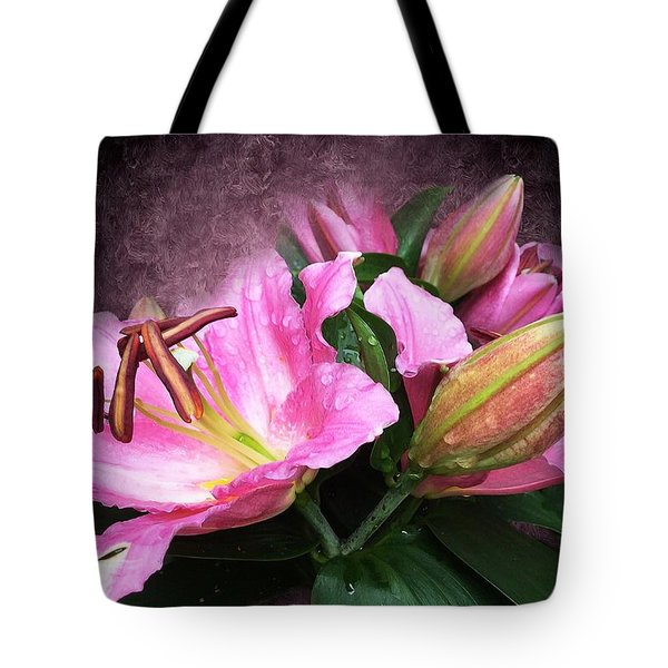 Tote Bag featuring the mixed media Just Beautiful  by Gabriella Weninger - David