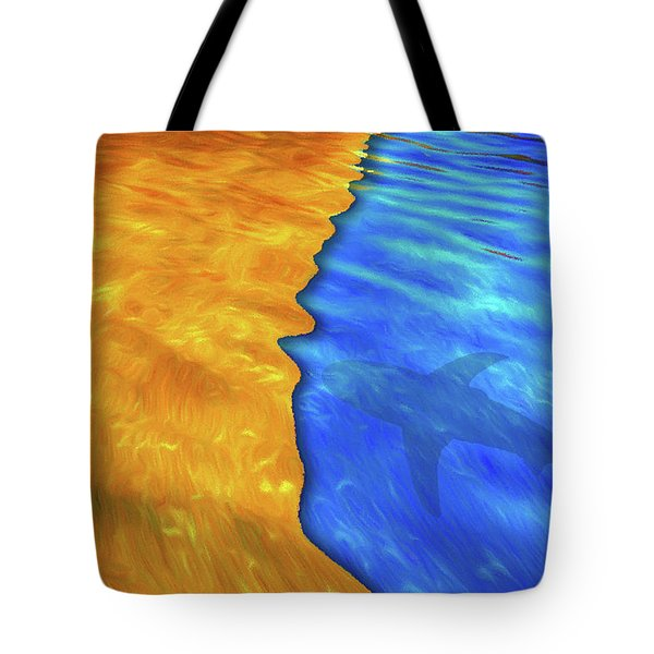 Tote Bag featuring the photograph Just Beneath by Paul Wear