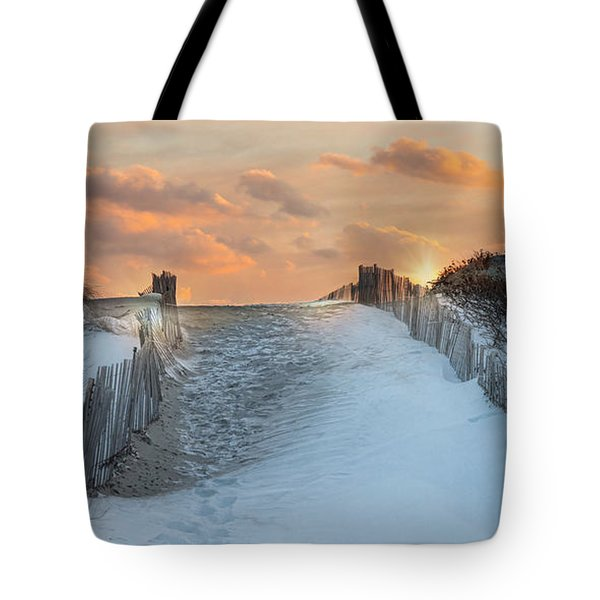 Tote Bag featuring the photograph Just Beyond by Robin-Lee Vieira